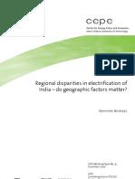 Regional Disparities in India