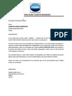 Carta a Ministerio VEnce