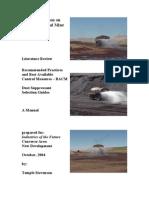 Dust Suppression on Wyoming's Coal Mine Haul Roads