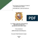 Tesis La Unificación de Los Regímenes Previsionales de Los Decretos Leyes 19990 y 20530