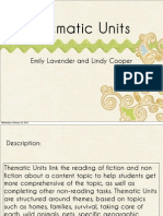 thematic unit powerpoint