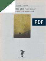 Thiebaut Carlos - Historia Del Nombrar