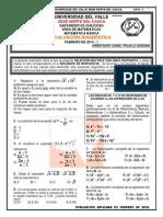 Evalución Diagnóstica Matemática Básica Contaduría Universidad Del Valle 2014-1