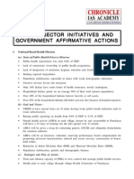 Social Sector Initiatives and Government