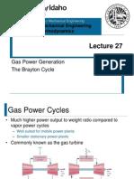 L27 - The Brayton Cycle