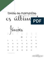 Calendário 2014 Para Imprimir EAIBELEZA