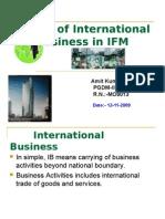 Modes of IB