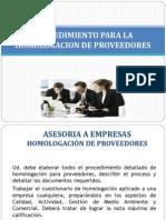 Procedimiento Para La Homologacion de Proveedores_trabajo Fase 2 2013 (1)