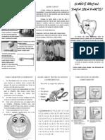 Folheto PIEsc Saúde Bucal