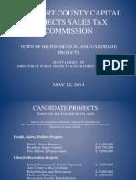 Hilton Head Island sales tax project list
