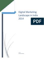 digital marketing landscape in india 2014 o