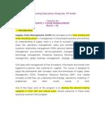 SCM Course Info Handbook