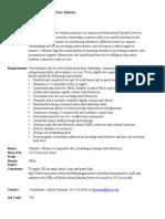 Peer Mentor Job for MSS