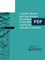 Gap Analysis of Sustainable Forest BC