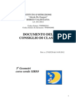 Documento 15 Maggio 5A Geometri Sirio