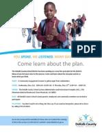 Strategic Plan Community Engagement Meetings May 2014