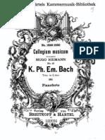 CPE Bach - Trio Sonata in G Major