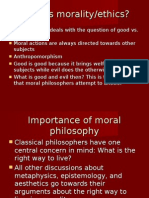 Moral and Existential Philosophy