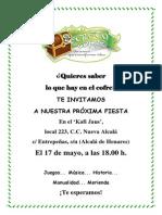 El Secreto Del Cofre Mayo Invitación