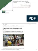 Santa Marta Desabastecida de Agua, Nación - Semana