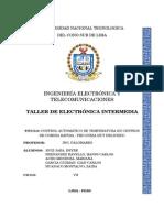 Informe de Control Automático de Temperatura