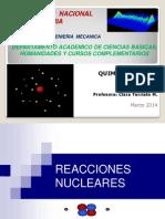 Clase Reacciones Nucleares 2014-1