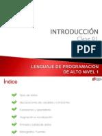 Utp Lenguaje de Programacion de Alto Nivel 1 Clase001