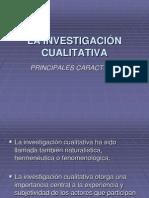 La Investigación Cualitativa-caracteristicas