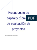 Presupuesto de Capital y Tecnicas de Evaluacion de Proyectos III