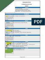 Calendario Letivo Graduacao 2014 1