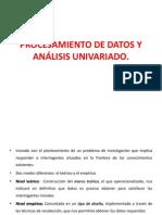 Procesamiento de Datos y Análisis Univariado