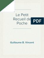 Le Petit Recueil de Poche PDF