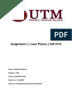 Assignment 1 Laser