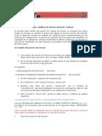 Manual Cambio Puerto Tomcat
