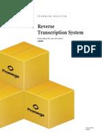 Reverse Transcription System Protocol TB099