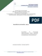 Modelo Relatório 2013-2