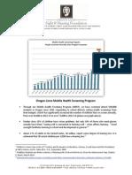 Data on Lions mobile health screening program