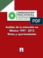 Análisis de La Extorsión en México 1997-2013 (ONC)