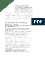 3.2 Entrepreneurial Competencies