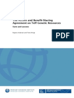 The Access and Benefit-Sharing Agreement on Teff Genetic Resources  -  Facts and Lessons  Publication Type and Number FNI Report 6/2012  Author