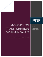 M-service on Transportation System in GASCO