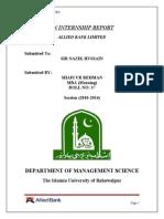 Internship Report on Allied Bank