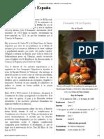 Fernando VII de España - Wikipedia, La Enciclopedia Libre