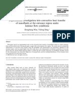 Experimental Investigation Into Convective Heat Transfer