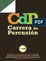 Carrera de Percusion Programa 2014