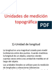 Unidades de Medición Topográfica