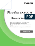 PowerShot SX500 IS Camera User Guide