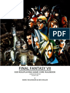 Final Fantasy Vii D20 Roleplaying Game Core Rulebook