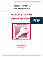 Microsoft Access 2010 Data Manipulation Step by Step Booklet