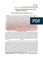 Performance Evaluation of Friction Belt Apparatus Using  Indigenous Materials